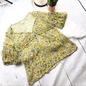 LOFT | Sheer Floral Spring Blouse